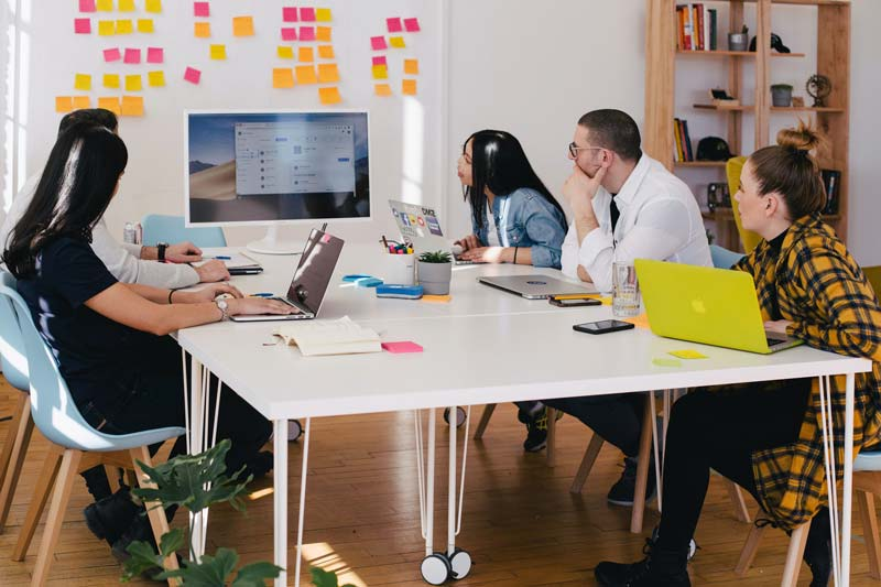 A team takes an online tech course